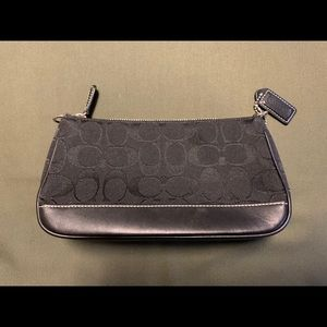 Coach Black leather / fabric Cosmetic bag